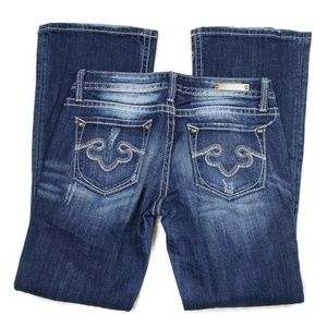 Express ReRock Bootcut Jeans Size 2 Short